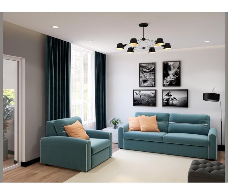 Дизайн проект квартиры 50м² г. Вишневое, Дизайн студия © AbiStyle