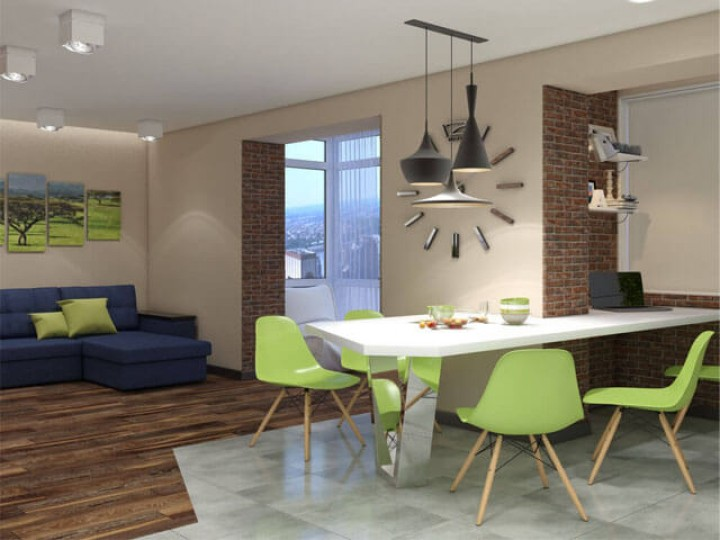 Интерьер  квартиры 73м² г. Ворзель, Дизайн студия © AbiStyle