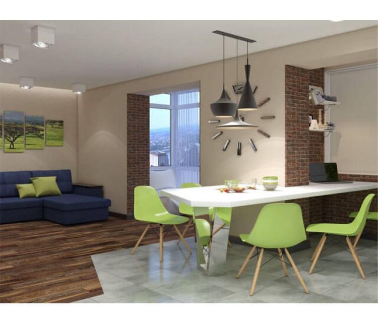 Дизайн проект квартиры 73м² г. Ворзель, Дизайн студия © AbiStyle