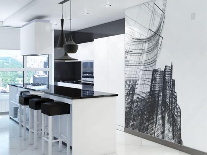 Интерьер квартиры 86м² ЖК Заречный, Дизайн студия © AbiStyle