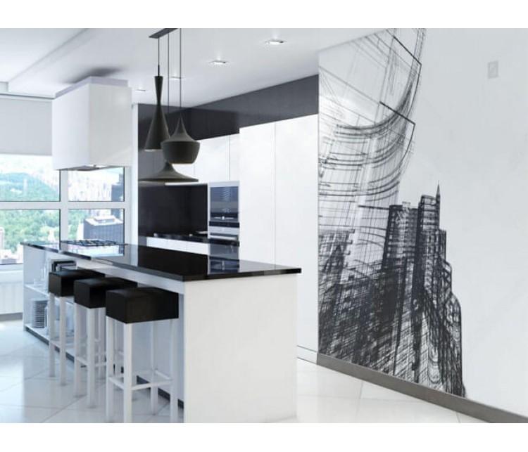 Дизайн проект квартиры 86м² ЖК Заречный, Дизайн студия © AbiStyle
