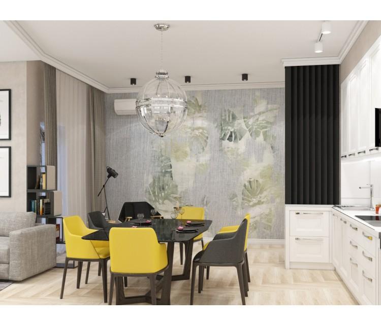 Дизайн проект квартиры 108м² ЖК Busov Hill, Дизайн студия © AbiStyle