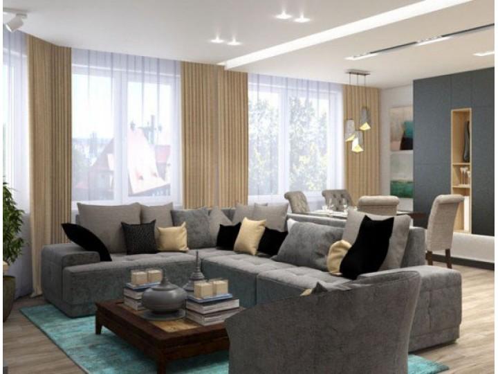 Интерьер квартиры 106м² Голосеевский проспект, Дизайн студия © AbiStyle