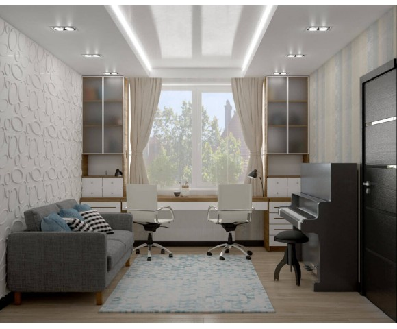 Дизайн проект квартиры 106м² Голосеевский проспект