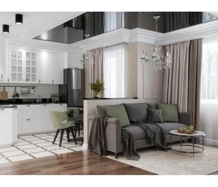 Дизайн проект квартиры 43м² ЖК Obolon SKY, Дизайн студия © AbiStyle