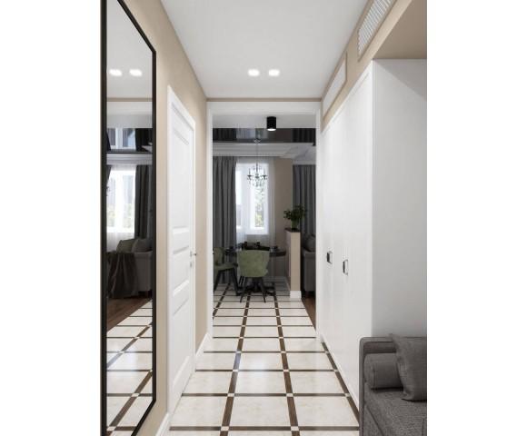 Дизайн проект квартиры 43м² ЖК Obolon SKY