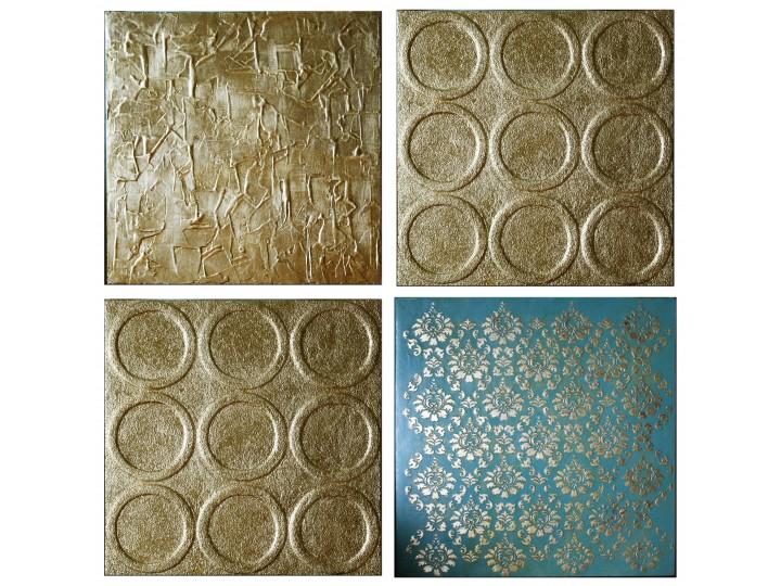 "Набор золотых картин ""абстракции"" , Дизайн студия © AbiStyle"
