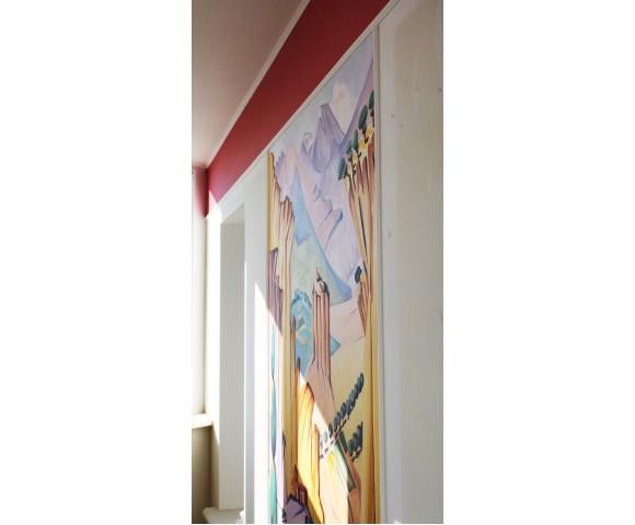 """Художественная роспись на балконе """"Восточные мотивы"""""""