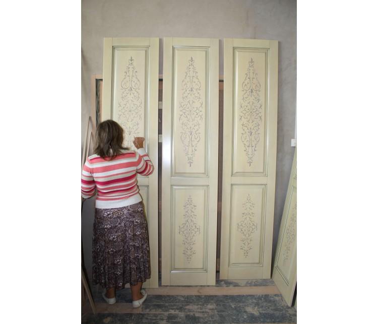 """Художественная роспись дверей """"восточный орнамент"""", Дизайн студия © AbiStyle"""
