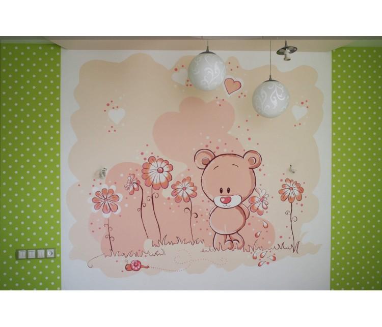 Художественная роспись в детской , Дизайн студия © AbiStyle