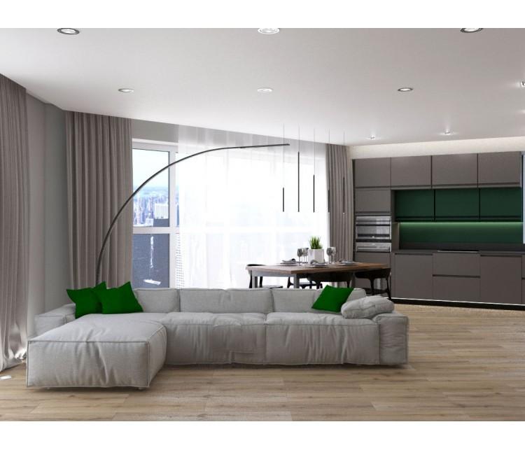 Дизайн проект квартиры 83м² ЖК Квартет, Дизайн студия © AbiStyle